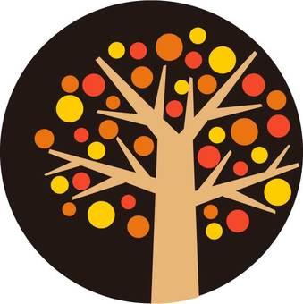 Dot tree autumn