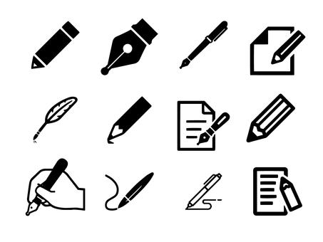 Pen pictogram set