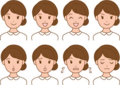 White woman's woman 8 Facial expression
