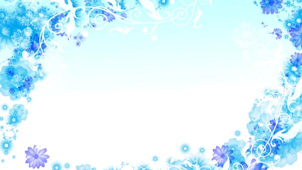 푸른 꽃 배경 5