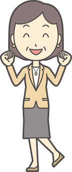 Bob middle-aged woman suit -100- whole body