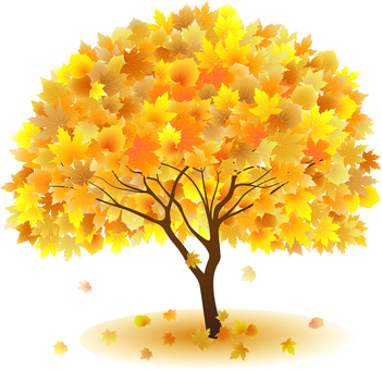 ai Autumn leaves maple tree