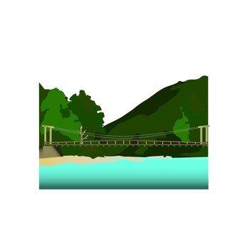 吊橋和山澗