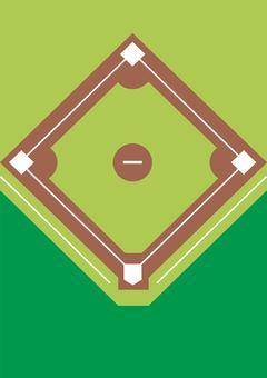 Baseball studio illustration
