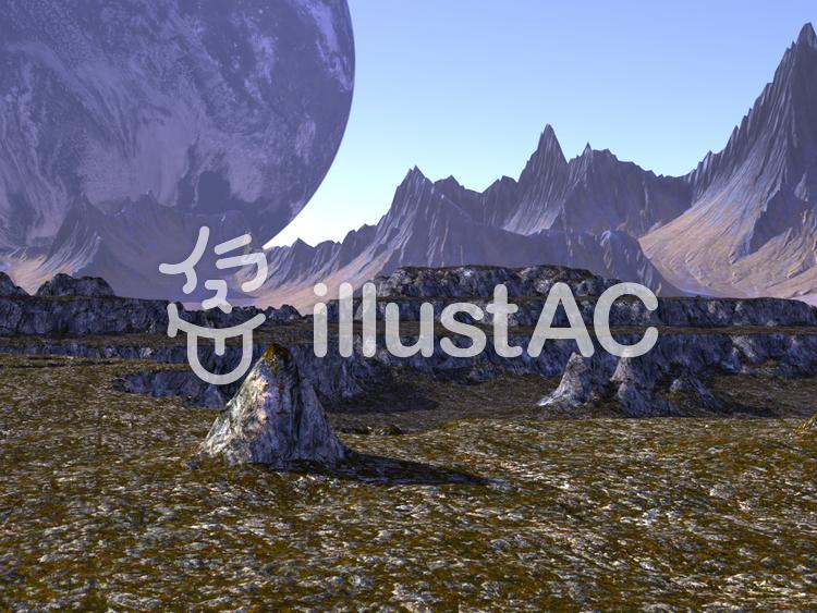 双子惑星のイラスト