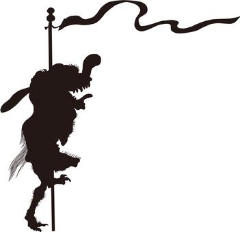 Ukiyo-e character silhouette part 115
