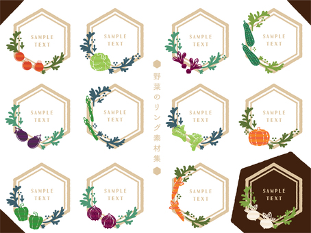 Vegetable ring material collection (hexagon)