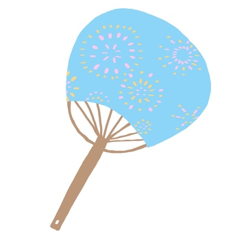 Fan and Summer illustration cute hand-painted