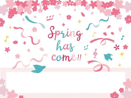 성인 귀여운 봄 배경 소재