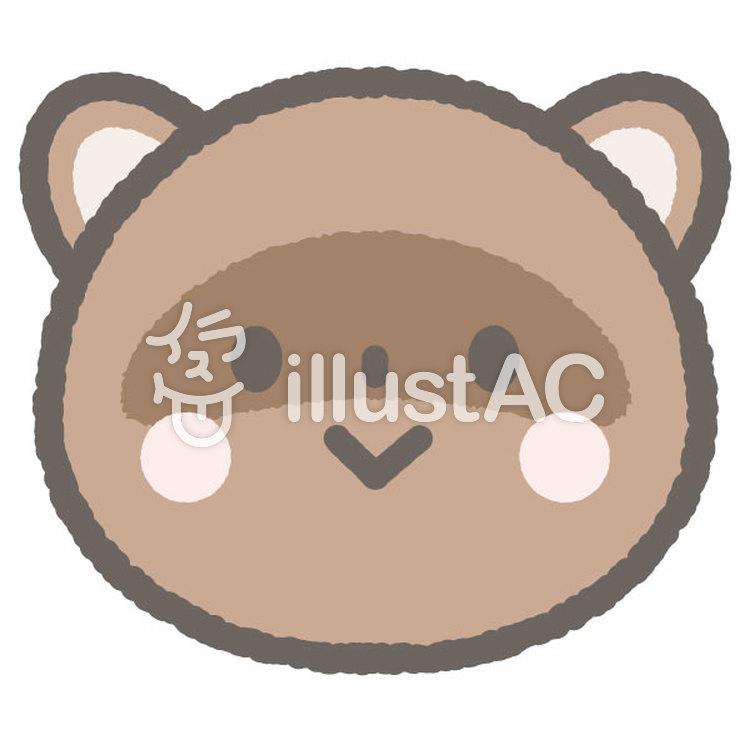かわいい動物たぬきイラスト No 1131136無料イラストなら