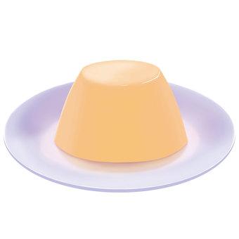 Plain pudding