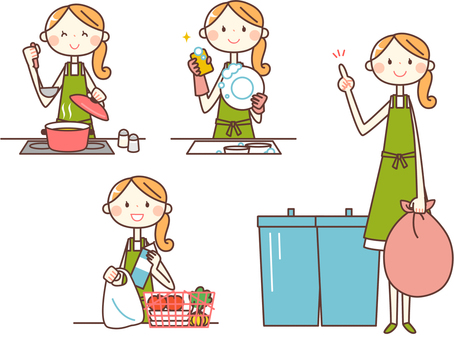 Simple person _ housewife 03 housework