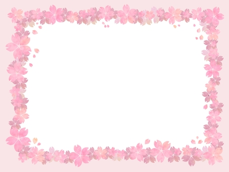 Cherry blossom dancing pale pink picture frame