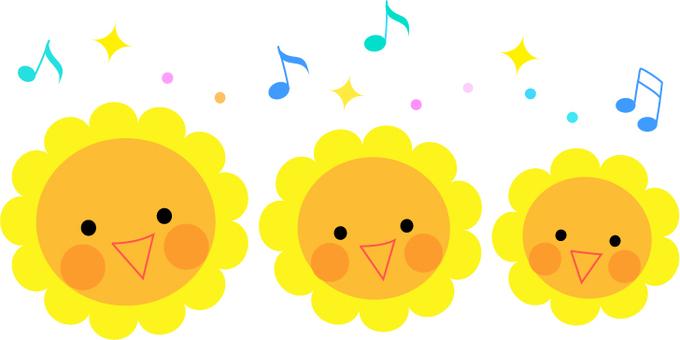 Singing sunflower