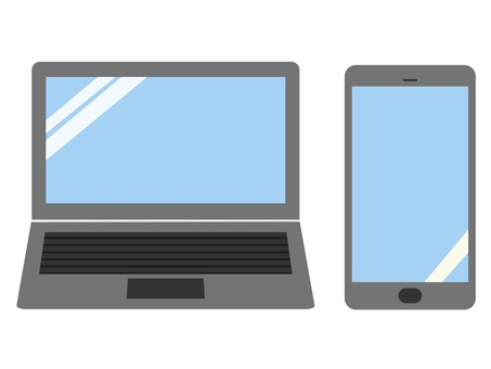 Laptop computer and smartphone