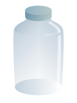 A glass bottle