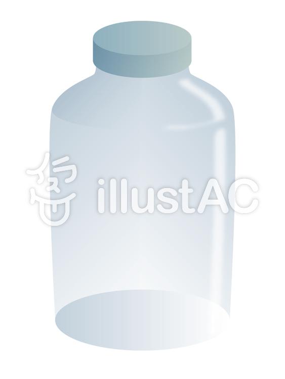 ミルクと渦巻くスプラッシュのガラス瓶の現実的なイラスト ベクター画像