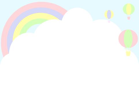 Rainbow sky balloon