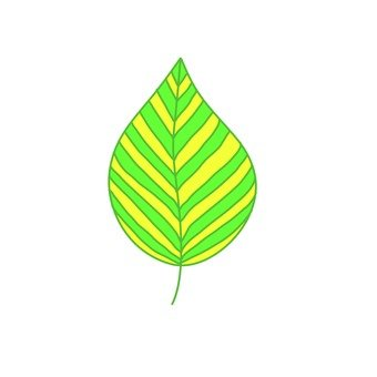 Scandinavian leaves (green)