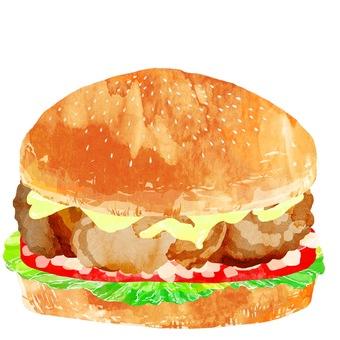 Hamburger · fried chicken