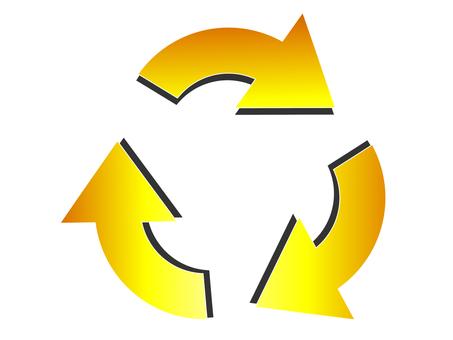 Yellow Recycle Mark Yellow