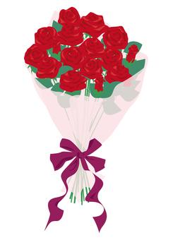 장미 꽃다발 빨간색