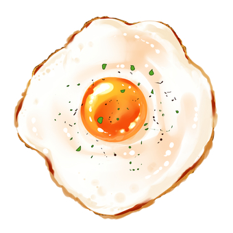 Fried egg delicious parsley pepper