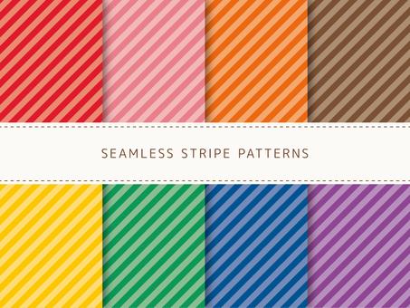 Set of oblique stripes -3