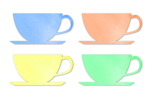 Cup water color 4 colors