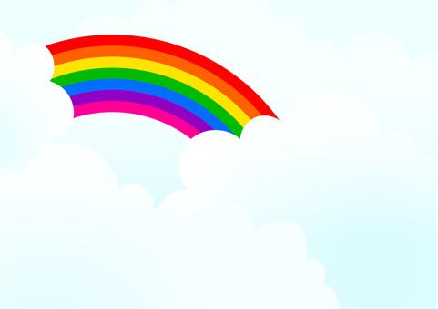 彩虹和天空