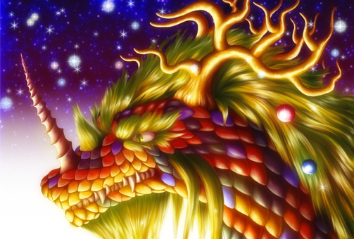 Dragon and Starry Sky
