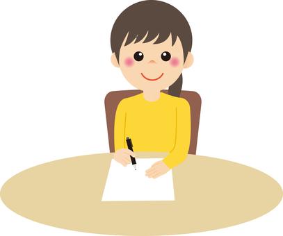 Woman_writing 01