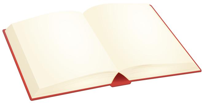 赤い開いた本