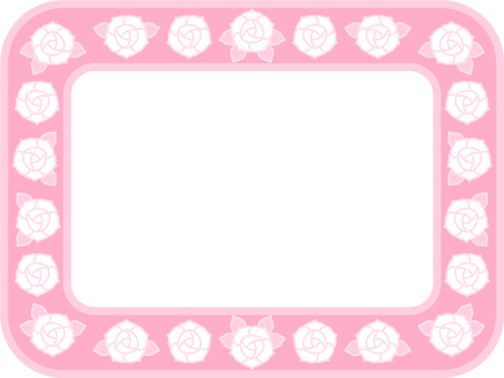 Pastel color rose frame (pink)