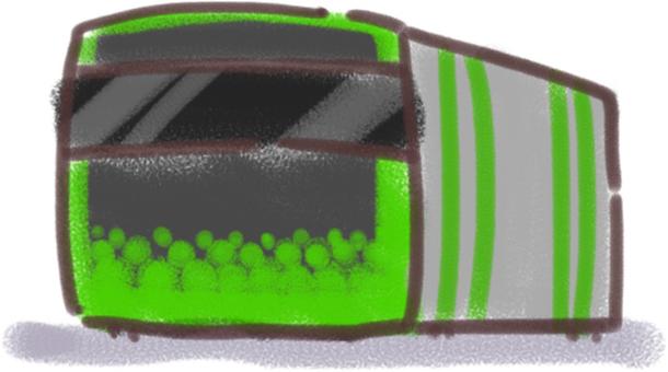 Yamanote Line E235 series (crayon style)