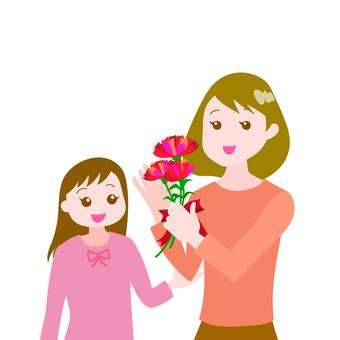 Mother and Daughter Mother's Day Carnation