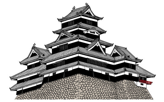 Matsumoto Castle (color)