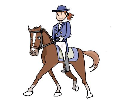 Horse riding ①