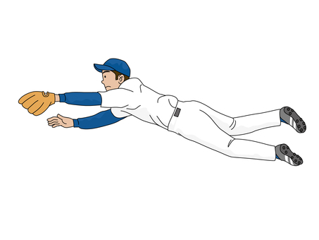 Inner hand diving catch