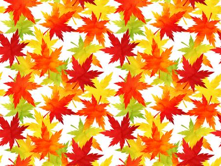 紅葉モミジの水彩風シームレスパターン背景