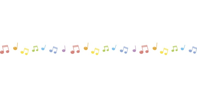 Musical note line - horizontally long
