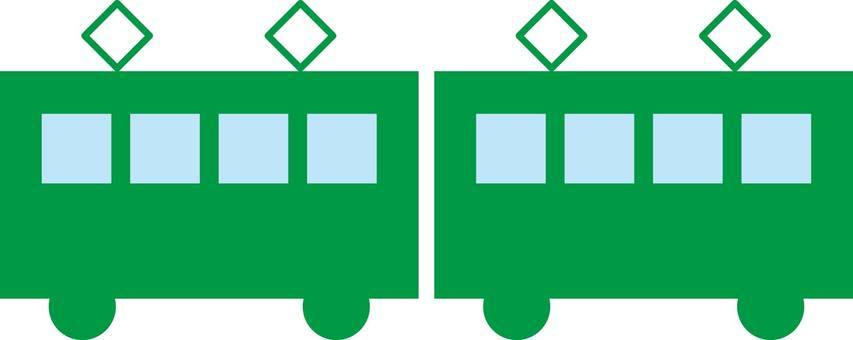 Train, train, silhouette
