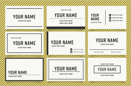 Set of simple business card designs