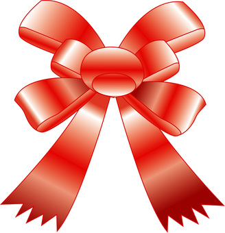 Ribbon ornate red