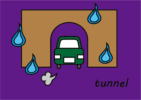 Tunnel, car and human soul