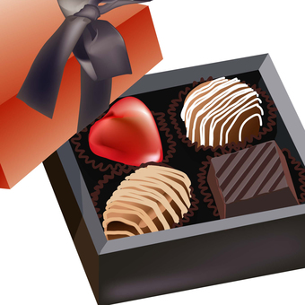 Valentine's and chocolate box for Christmas boxed