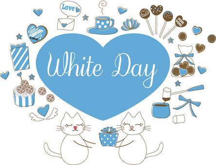 Handwritten illustration style White day set