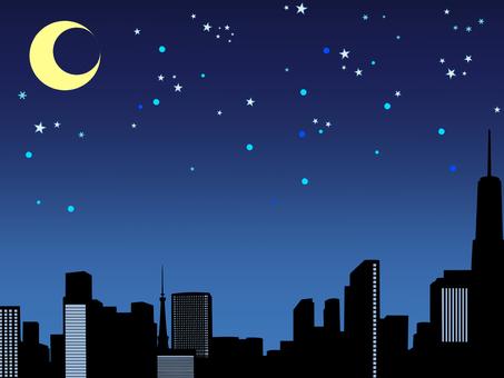 거리 풍경 배경 밤