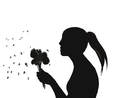 Dandelion ponytail