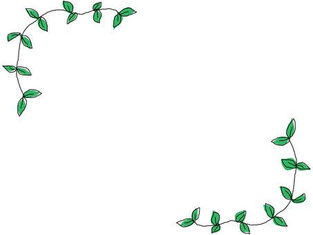 葉框架4綠色